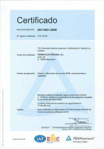 Ferrín electrónica, certificados